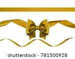 set of three nice golden silk... | Shutterstock . vector #781500928