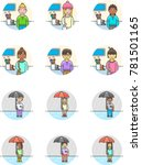 weather  multicolor icon set | Shutterstock .eps vector #781501165