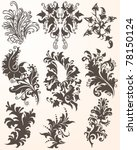 hand drawn flourish paisley... | Shutterstock .eps vector #78150124