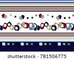 seamless horizontal border | Shutterstock . vector #781506775