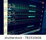 vital sign ekg monitor.   Shutterstock . vector #781510606