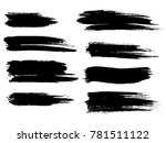 painted grunge stripes set.... | Shutterstock .eps vector #781511122