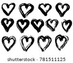 vector hand painted ink... | Shutterstock .eps vector #781511125