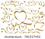 a set of assorted gold ribbons  ... | Shutterstock .eps vector #781517452