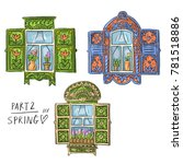 set illustration with russian... | Shutterstock .eps vector #781518886