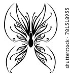 black butterfly on a white... | Shutterstock .eps vector #781518955