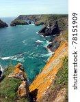 cornish coast near the lizard ... | Shutterstock . vector #78151909