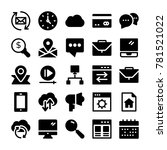 seo and marketing vector icons ... | Shutterstock .eps vector #781521022