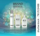 3d realistic cosmetic bottle... | Shutterstock .eps vector #781523488