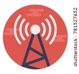 radio antenna sending signals ... | Shutterstock .eps vector #781527652