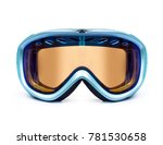 ski or snowboard mask closeup... | Shutterstock . vector #781530658