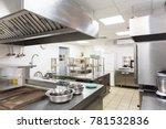modern kitchen equipment in a...   Shutterstock . vector #781532836