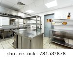 modern kitchen equipment in a... | Shutterstock . vector #781532878