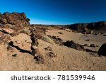 Small photo of mountainous and desert landscape, tede tenerife canary islands