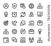 hr line vector icons set   | Shutterstock .eps vector #781541056