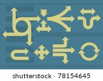 arrows set. | Shutterstock .eps vector #78154645