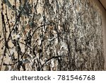 pollock painting on the wall | Shutterstock . vector #781546768