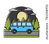 vintage van vehicle in the... | Shutterstock .eps vector #781548952