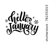 hello january lettering card... | Shutterstock .eps vector #781552015
