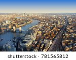 london city skyline  aerial view | Shutterstock . vector #781565812