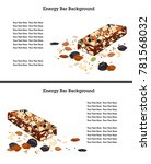 healthy enegry bar with some... | Shutterstock .eps vector #781568032