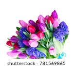 hyacinth and tulips flowers   Shutterstock . vector #781569865