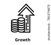 growth thin line icon. | Shutterstock .eps vector #781574875