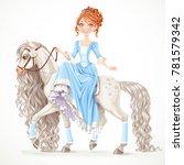 cute brunette princess on a... | Shutterstock .eps vector #781579342