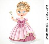 cute little princess in pink... | Shutterstock .eps vector #781579345