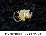 bitcoin is a gold coin. the... | Shutterstock . vector #781579795