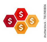 dollar sign money icon | Shutterstock .eps vector #781580806