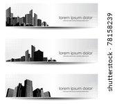 Vector Set Of City Header Design