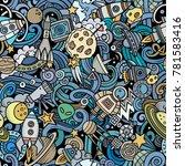 cartoon cute doodles space... | Shutterstock .eps vector #781583416
