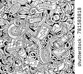 cartoon cute doodles electric... | Shutterstock .eps vector #781583818