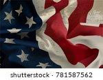 american flag  usa flag   Shutterstock .eps vector #781587562
