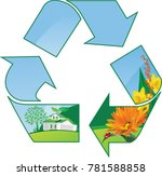 recycling world. all elements...   Shutterstock .eps vector #781588858