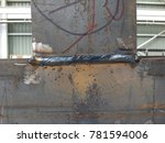 Small photo of close up weld-bead after weld by Flux-Cored Arc Welding Process for job Structure or petrochemical to background.