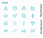 space thin line icons set ... | Shutterstock .eps vector #781594462