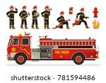 flat vector illustration set of ... | Shutterstock .eps vector #781594486