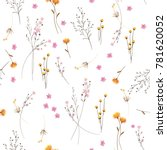 summer trendy  white blowing ... | Shutterstock .eps vector #781620052