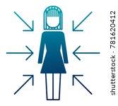 businesswoman standing with...   Shutterstock .eps vector #781620412