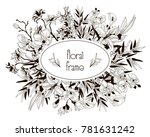 vector floral frame with... | Shutterstock .eps vector #781631242