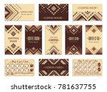 visit card design set with... | Shutterstock .eps vector #781637755
