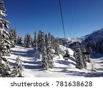 An Old Chairlift Crossing The...