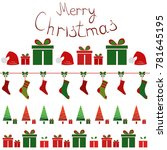 christmas background with... | Shutterstock .eps vector #781645195
