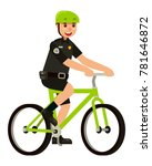 policeman officer riding a... | Shutterstock .eps vector #781646872