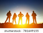 group of five peoples... | Shutterstock . vector #781649155