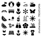 Summer Icons. Set Of 25...