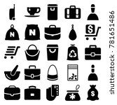 bag icons. set of 25 editable... | Shutterstock .eps vector #781651486