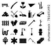 garden icons. set of 25... | Shutterstock .eps vector #781651492